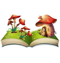 Mushroom book vector image vector image