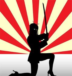 Ninja Girl vector image vector image