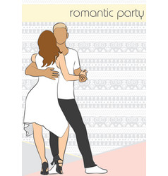 poster for romantic party vector image