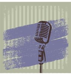 Retro Microphone Brush 2 vector image vector image