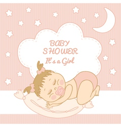 Baby Shower It is a girl vector image vector image