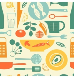 Colorful kitchen pattern vector image