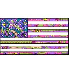 Colorful Usa flag vector image vector image