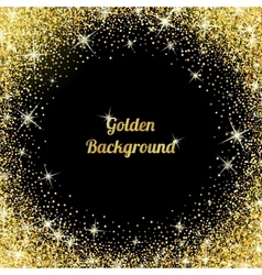 Gold glitter texture with sparkles vector image vector image