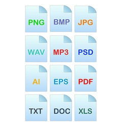 Set of icons for file manager vector image