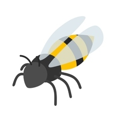 Bee isometric 3d icon vector image vector image