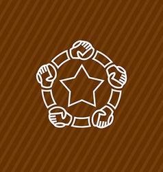 Community logo template vector image