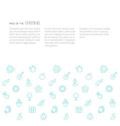Gardening eco background vector