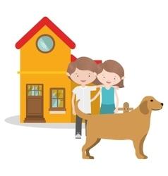 pet dog design vector image vector image