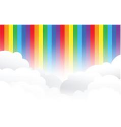 rainbow cloud background vector image