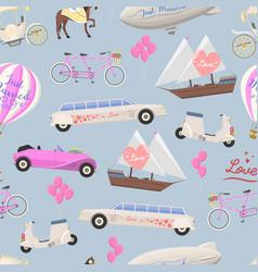wedding fashion transportation seamless vector image vector image