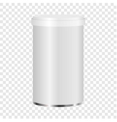 white plastic jar mockup realistic style vector image vector image
