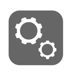 gears black icon vector image vector image
