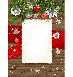 holiday winter card frame vector image vector image