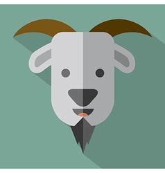 Modern Flat Design Goat Icon vector image