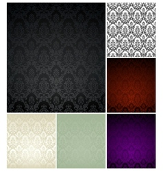 Pattern seamless set vector image vector image