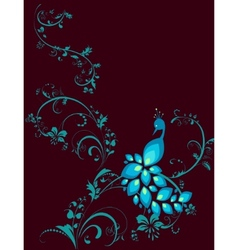 peacock decorative plant vector image