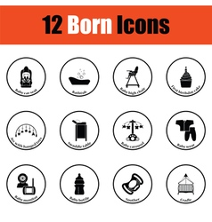 Set of born icons vector image vector image