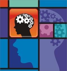 smart application process thinking intelligence vector image