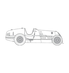 Vintage race car vector