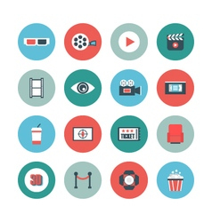 400cinema flat iconVS vector image