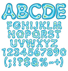 Alphabet numbers in the form of an island vector