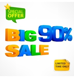 Big sale inscription 90 vector