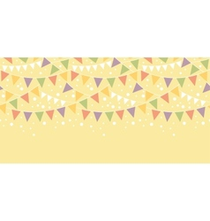 Birthday Decorations Bunting Horizontal Seamless vector