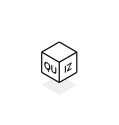 black stroke quiz minimal logo vector image