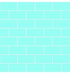 Blue Mint Brick Wall vector