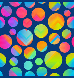 bright circle seamless pattern vector image