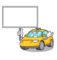 Bring board taxi character cartoon style vector