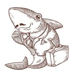 business shark vector image