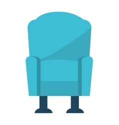 chair couch style icon vector image vector image