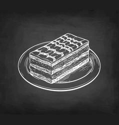 Chalk sketch french dessert vector