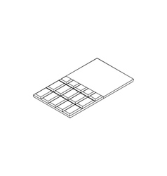 Chocolate icon isometric 3d style vector image