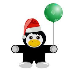 christmas animal penguin cartoon vector image