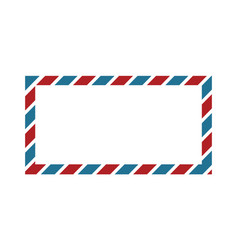 Classic envelope border with red and blue colors vector