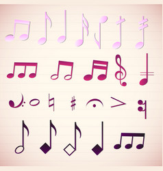 colorful music icon set vector image