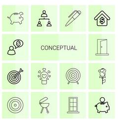 Conceptual icons vector