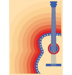 Concert guitar poster music festival vector image