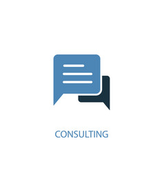 consulting concept 2 colored icon simple blue vector image