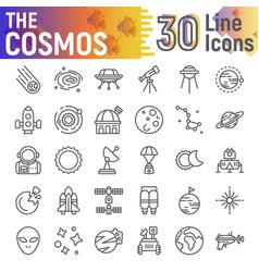 cosmos line icon set space symbols collection vector image