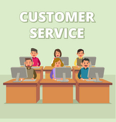 customer service technical support team vector image
