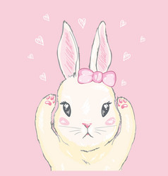 Cute rabbit vector