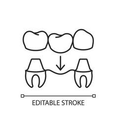 dental prosthetics linear icon vector image