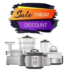 Discount advert friday sale vector