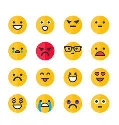 Emoticons set emoji smile icons on white vector