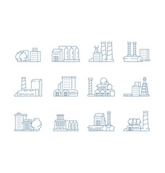 factory icon industrial energy production vector image