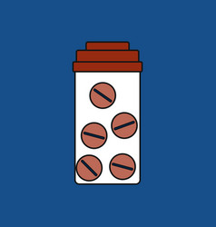 Flat icon design collection bank with pills vector